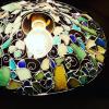 キラキラ美しい!シーグラスのランプシェード